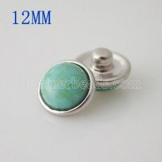 12mm Small size Semi-precious stone KB3190-BC snaps jewelry
