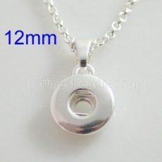silver plate Pendant of necklace without chain fit 12MM snaps style small chunks jewelry