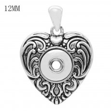 snap sliver Pendant fit 12MM snaps style jewelry KS0366-S