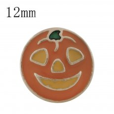 12MM Halloween gold Plated with orange enamel KS6321-S snaps jewelry