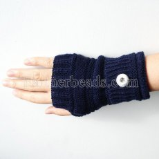 Knitted gloves fit 20mm snap button KB9793 dark blue