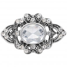 20MM design snap silver Plated with white rhinestone KC6908 snaps jewelry