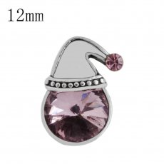 12mm Christmas Small size pink snaps for chunks jewelry