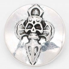 20MM skull snap sliver Plated KC6676 snaps jewelry