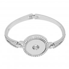 1 buttons snap sliver Bracelet with Rhinestone snaps jewelry KC0815
