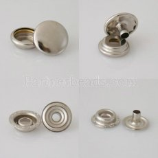 1000 set/bag Fastener Snap Metal Button for leather bracelet 4pcs/set