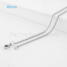 46CM Stainless steel fashion chain fit all jewelry silver plated FC9025