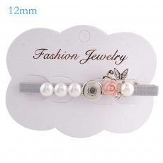 Hairpin 8CM with one button and Pendants Fit 12mm Chunks