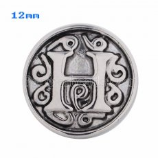 12mm H Antique snaps Silver Plated KS5010-S snap jewelry