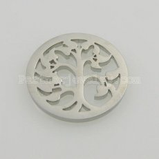 25MM stainless steel coin charms fit  jewelry size heart tree