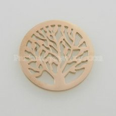 25MM stainless steel coin charms fit  jewelry size tree