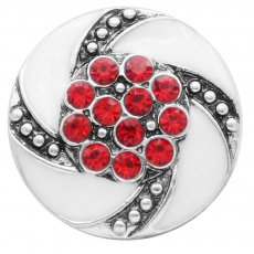 20MM snap Silver Plated with red Rhinestone KC7817 snaps jewelry