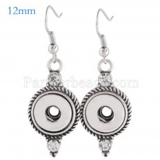 Snaps metal earring with Rhinestones KS0992-S fit 12mm chunks snaps jewelry