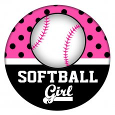 20MM girl's softball Painted enamel metal C5379 print snaps jewelry