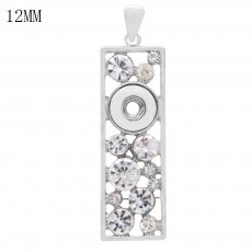 snap sliver Pendant fit 12MM snaps style jewelry KS0367-S