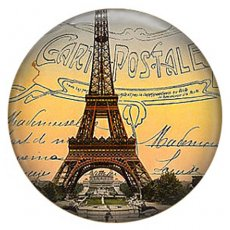 20MM Eiffel Tower Painted enamel metal C5142 print snaps jewelry