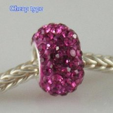 Cheap type Rhinestones beads with silver plated core