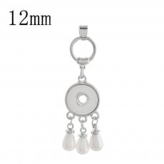 snap sliver Pendant with pearl fit 12MM snaps style jewelry KS1226-S
