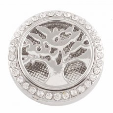 25mm white alloy Life Tree Aromatherapy/Essential Oil Diffuser Perfume Locket snap with 1pc mix color discs as gift
