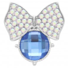 20MM snap Silver Plated with blue rhinestone KC7855 snaps jewelry