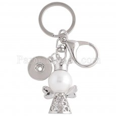 Alloy fashion Keychain with pendant and buttons fit snaps chunks KC1156 Snaps Jewelry
