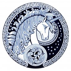 20MM  Unicorn Painted enamel metal C5841 print snaps jewelry