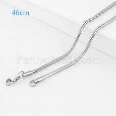 46CM Stainless steel fashion chain fit all jewelry silver plated FC9026