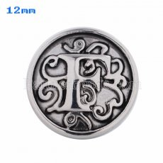 12mm F Antique snaps Silver Plated KS5008-S snap jewelry