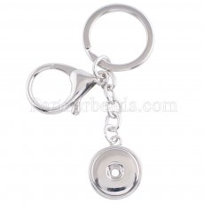 Metal Keychain with button fit snaps chunks KC1115 Snaps Jewelry