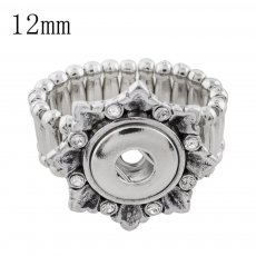 12MM snaps adjustable snowflake Ring KS1129-S snaps jewelry
