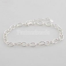 Partnerbeads Adjustable sterling silver Charm bracelet