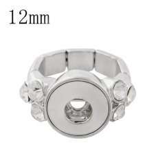 12MM snaps adjustable Ring with Rhinestone KS1175-S snaps jewelry