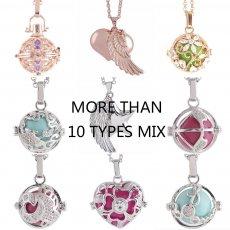 Mezcle 10pcs / set Angel Caller Ring bell ball locket Collar con color aleatorio de bola, tipos 30 aleatorios