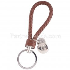PU leather Keychain Keychain with button fit snaps chunks KC1140 Snaps Jewelry