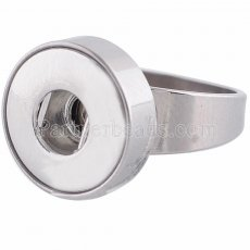 18MM 8 # broches Ajuste de anillo de acero inoxidable Dedos gruesos 18mm