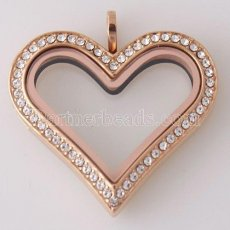 Stainless steel floating charm locket big 35MM heart