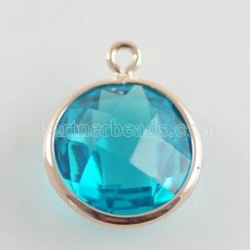 Glass crystal dangle Charms dia 12mm color010