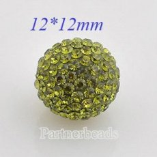12mm Green STELLUX Austrian crystal ball beads