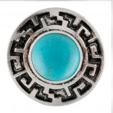 20MM Round snap Silver Plated with green Turquoise stone  KC7668 snaps jewelry
