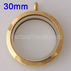30MM Stainless steel floating charm locket can open