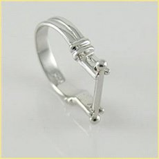 S925 Silver Ring for beads;Bead it ring mother