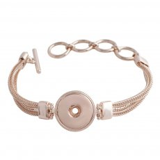 23CM 1 buttons snaps Rose gold Bracelets KC0755 fit 20MM snaps chunks
