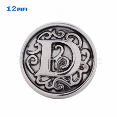 12mm D Antique snaps Silver Plated KS5006-S snap jewelry
