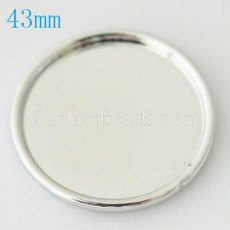 43MM metal back plate for coin charm fit  jewelry size