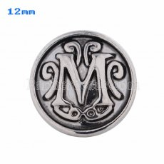 12mm M Antique snaps Silver Plated KS5015-S snap jewelry