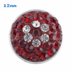 Small size snaps Style chunks with red rhinestone KS2714-S