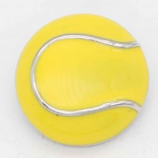 20MM Tennis with yellow Francs   snap sliver Plated KC6661 snaps jewelry
