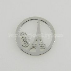 25MM stainless steel coin charms fit  jewelry size Paris tower
