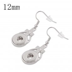 Snaps metal earring with Rhinestone KS1120-S fit 12mm chunks snaps jewelry