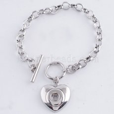 18CM 1 buttons snaps Alloy Bracelets KS0705-S fit 12MM snaps chunks